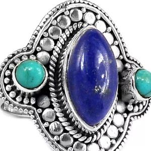 Jewelry - Lapis and turquoise ring