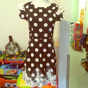 🙈Black W/ White polka Dot Dress- Size S🌷
