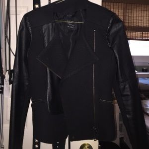 Zara jacket with leather sleeves