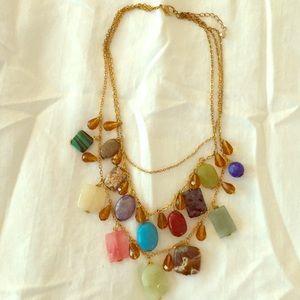 BEAUTIFUL genuine gemstone statement necklace