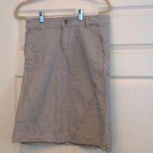 PRICE DROP Blue Pinstripe Pencil Skirt