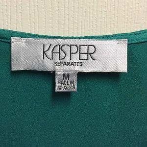bbd4cea8aadb38 Kasper Tops | Emerald Green Cowl Neck Blouse | Poshmark