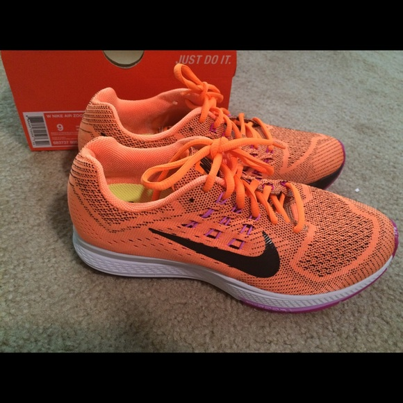 mens nike zoom structure 18 all orange