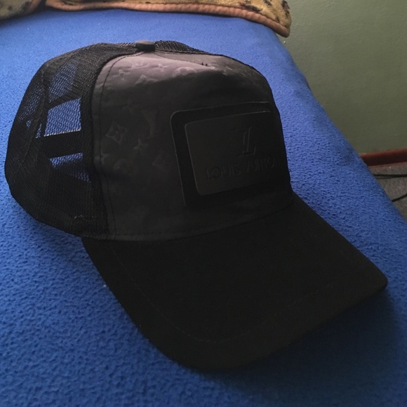 d2a8edfa1b2 Louis Vuitton Accessories - Louis Vuitton trucker hat all black