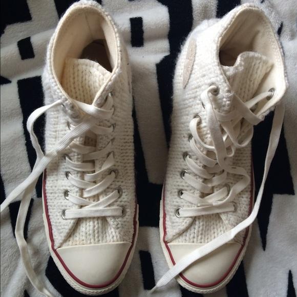 bf51837576c Converse Shoes | Special Edition Crochet Hi Tops | Poshmark