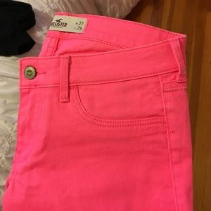 Hollister Denim - Neon pink hollister skinny jeans