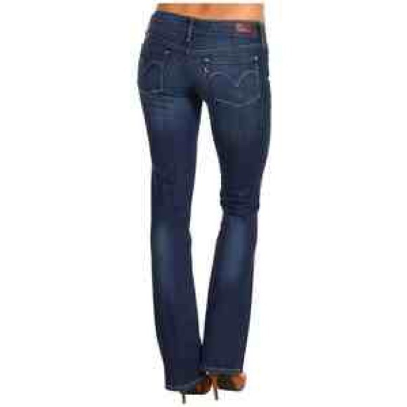 Low rise skinny bootcut jeans
