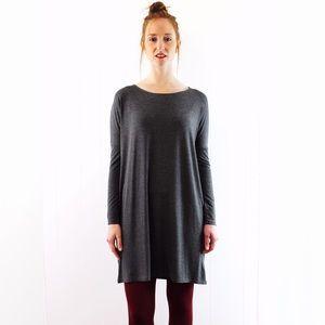 Dresses & Skirts - Grey long sleeve tunic shift dress