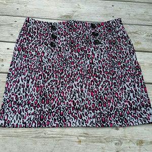 Grass Collections Cheetah Print Skirt Junior Sz 11