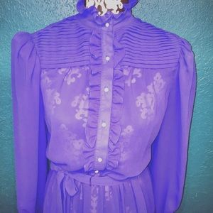Vintage 60s ruffle dress!