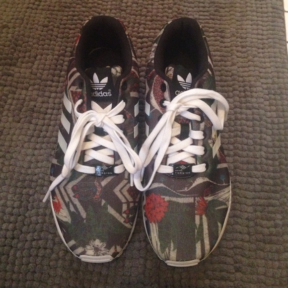 Adidas Shoes - adidas ZX FLUX  Forest Floral  print f1f0b7161