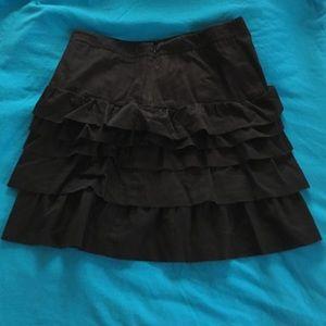 Black old navy ruffle skirt size 8