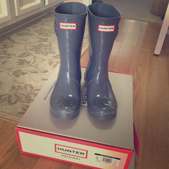 55338126774 ‼️💥BOGO 1/2off💥Size6 short graphite Hunter boots