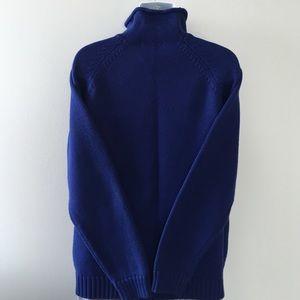 038f1c771228eb Lands  End Sweaters - ROYAL BLUE MOCK TURTLENECK SWEATER