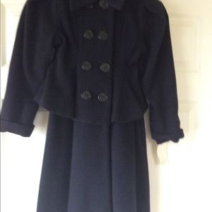 Helena Jackets & Blazers - Helena Girls Wool Navy Dress Coat  -  size 6 girls