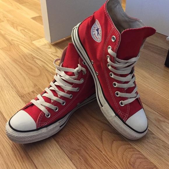 Converse Shoes | Red High Top Chucks
