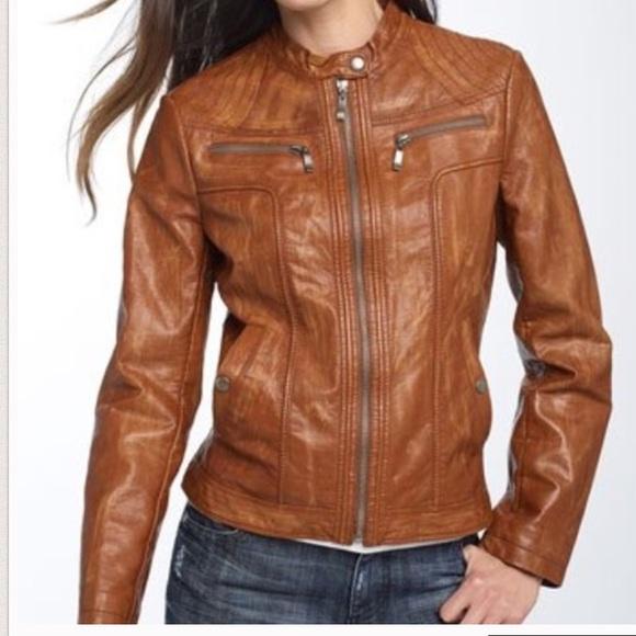 83% off Bernardo Jackets &amp Blazers - Nordstrom Cognac Leather