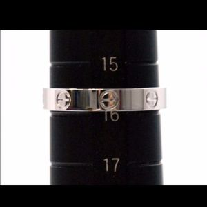 Cartier Love Ring US size 8 white gold