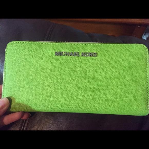 c16b16c9d691 Lime green Michael Kors wallet! M_5652251e68027884a602502a