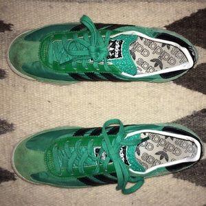 Adidas green sneakers