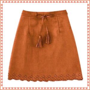 Dresses & Skirts - NWT Camel Brown Suedette Mini Skirt