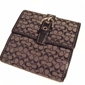 COACH signature wallet with buckle