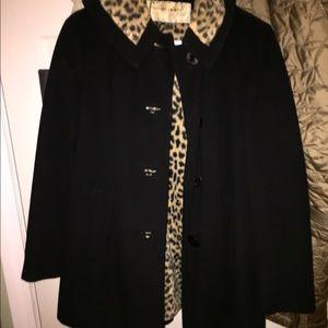 Vintage faux leopard lined jacket