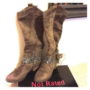 Tall western style boot
