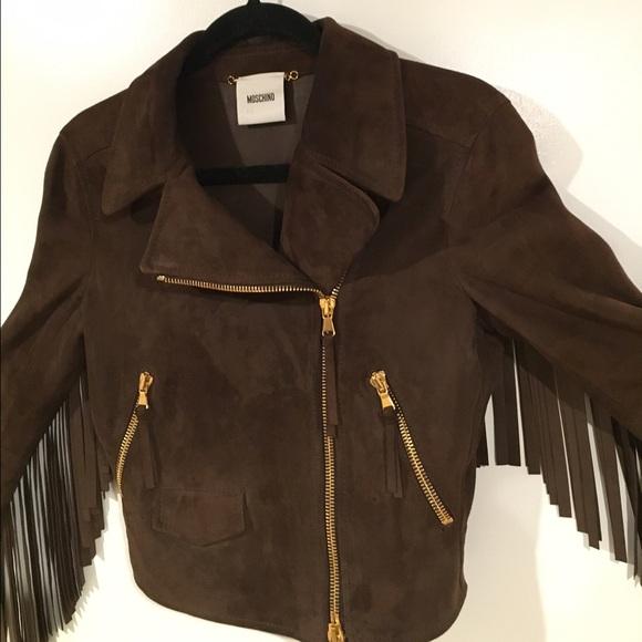 6b19e1c9e2b94 Moschino Jackets & Coats | Runway Suede Fringe Jacket | Poshmark