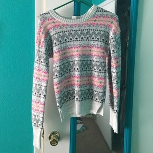 Multicolored tribal print sweater