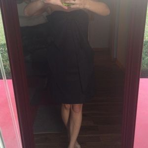 NWT Sisley Little black dress with Bow detail