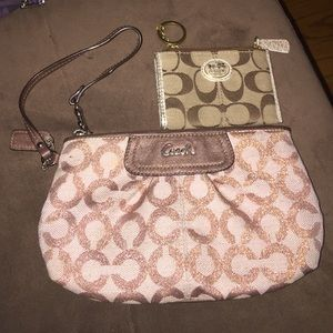 Coach Opt C Large Wristlet.