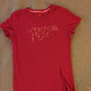 American eagle red baby t