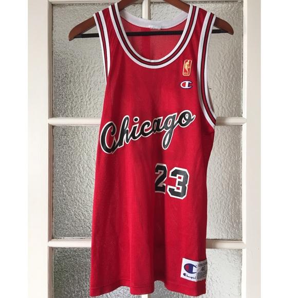 8ef34efad Champion Tops - Throwback Jordan Chicago Bulls 1984-1985 Jersey