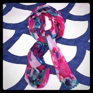 Levi's Abstract Floral Scarf