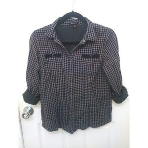 Charlotte Ronson Tops - Lavender and black flannel shirt
