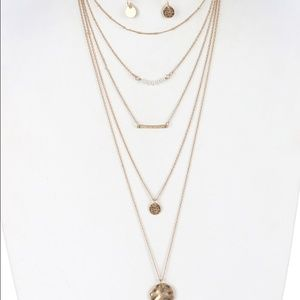 Kristee P Jewelry - Five Layered Necklace Set