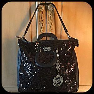 Secret Pon-Pon Handbags - Stunning Italian oversized black sequin bag