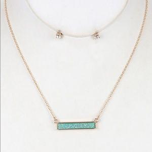 Kristee P Jewelry - Metal Bar Bib Necklace Set