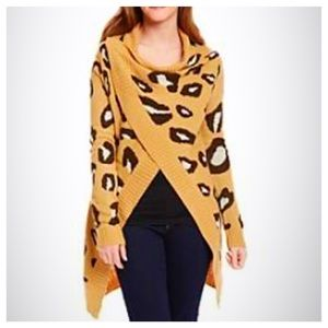 Animal Print Cardigan NWT