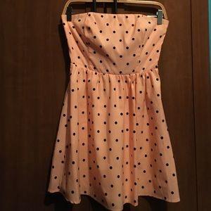 FINAL PRICE  Strapless Polka dot dress