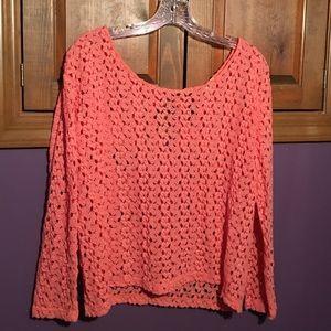 Coral Black Poppy Shirt