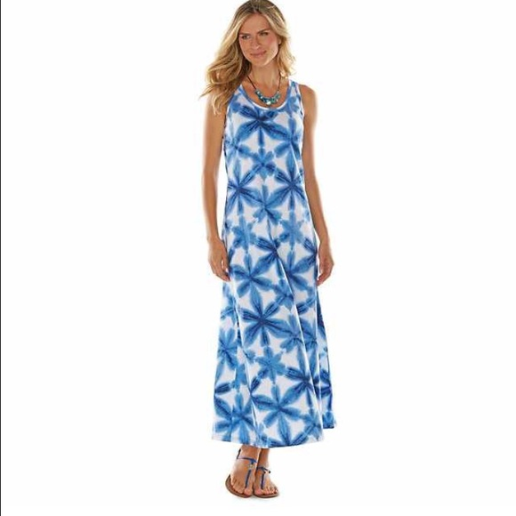 bfead361492 Chaps Tie-Dyed Maxi Dress