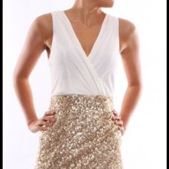 befbc34f86 ... Eve dress with Gold Sequin base. M 56526e936e3ec2b758028c65