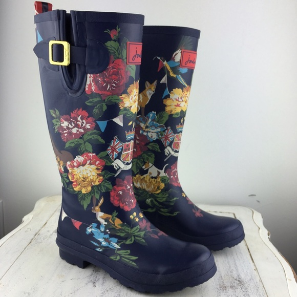 Joules - [Joules] Rare Jubilee Floral Rain Boots Wellies 7 from