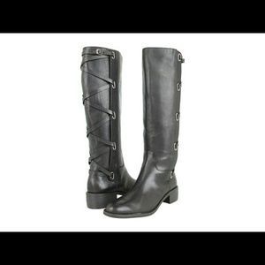 BCBGeneration Janiss Black Leather Boots Size 5.5