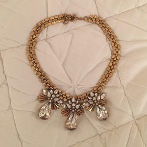 NWOT J. Crew crystal cluster necklace