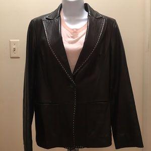 Banana Republic leather jacket s 10 Vintage