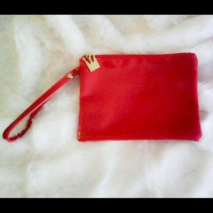 Antthony Handbags - Antthony red small faux patent leather wristlet