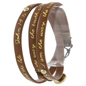 John 14:6 Brown Wrap Bracelet